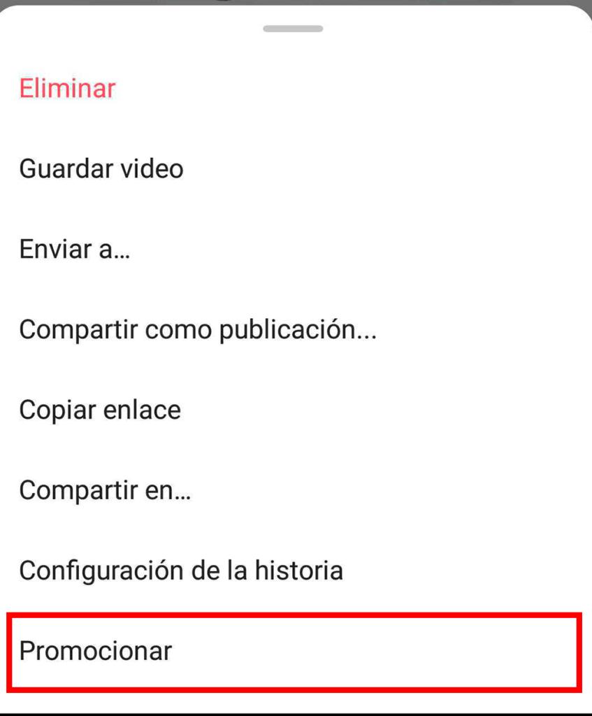Promo para stories ejemplo