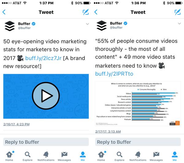 ejemplos de microblogging en twitter