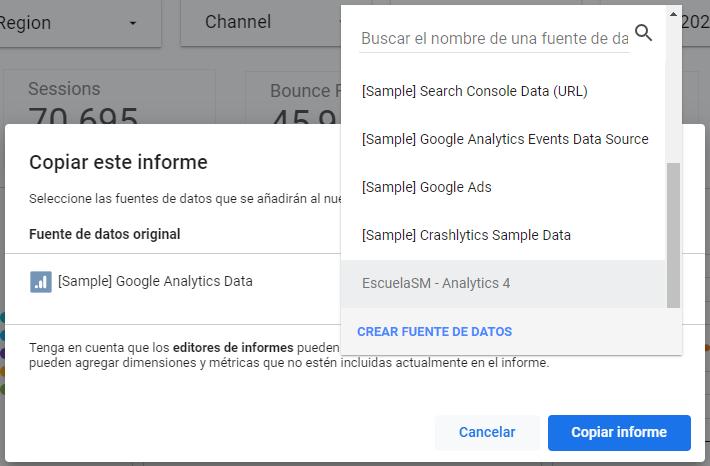 Ejemplo google data studio
