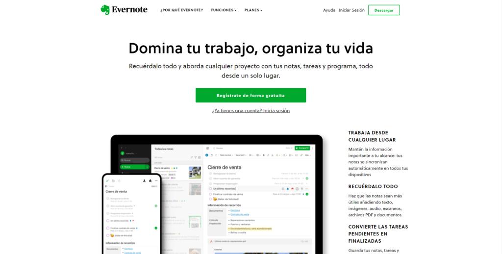 Evernote - organizar tu tiempo y gestionar las tareas
