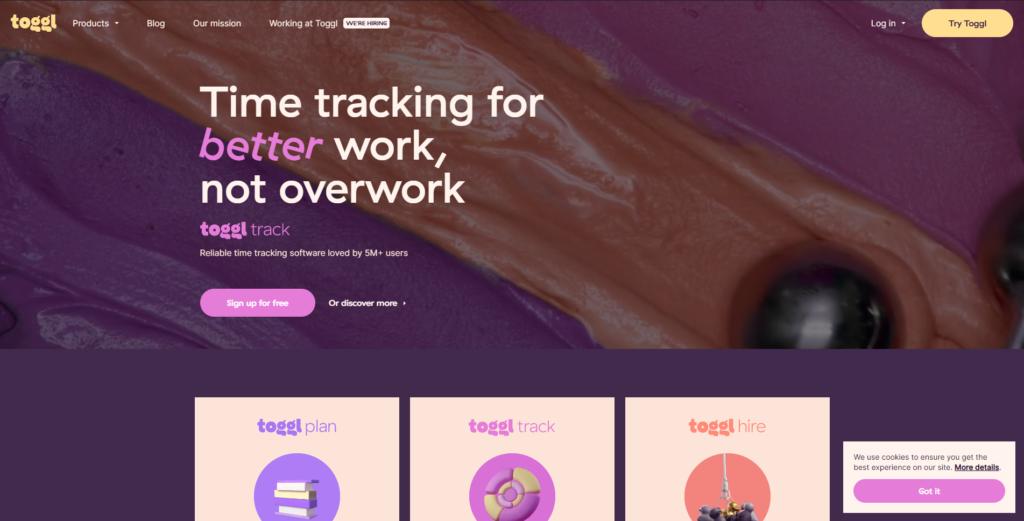 Toggl - organizar tu tiempo y gestionar las tareas